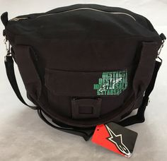 NWT ALPINESTARS Black Canvas Duffle Messenger Bag Shoulder Luggage Tote Travel    eBay