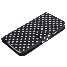 Diary Style Polka Dots Leather Flip Case for Samsung Galaxy S4