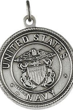 U.S. Navy / St. Christopher Medal    Quality - Sterling Silver    Size - 18.00 MM    Finish - Polished    Series Description - ST. CHRISTOPHER / US NAVY MEDAL    Weight: 1.68 DWT ( 2.61 grams)    ST-R41581S    http://www.thesgdex.com
