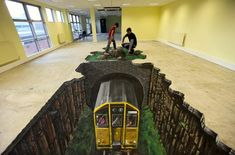 World's Longest & Largest 3D Street Art by 3D Joe & Max, the world traveling pavement artists