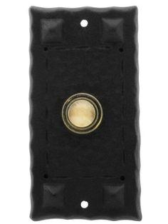 Hammered Craftsman Style Doorbell Button. Brass Door Bell Button. by House of Antique Hardware, Inc., http://www.amazon.com/dp/B005TERXA2/ref=cm_sw_r_pi_dp_0MQnsb1RJJ13Z