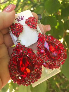 Excited to share this item from my shop: Red Crystal Earrings Ruby Red Chandelier Earrings Red Bling Statement Earrings Red Dangle Red Rhinestone Red Pierced Earrings Jewelry Design Earrings, Bar Stud Earrings, Red Jewelry, Jewelry For Her, Pierced Earrings, Statement Earrings, Red Chandelier, Chandelier Earrings, Crystal Earrings