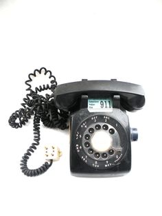 Vintage 1958 Western Electric Black Rotary Dial by CasualHomeStyle