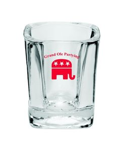 Grand Old Partying Shot Glass #Republican #GOP