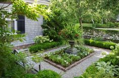 A front garden can be said as a magical garden as this is the path which guests take before they approach you. You can use your front garden to your Pea Gravel Garden, Potager Garden, Boxwood Garden, Back Gardens, Small Gardens, Formal Gardens, Outdoor Gardens, Side Garden, Garden Beds