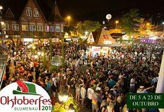 Acontece de 5 a 23 de outubro em Blumenau - SC, a 33ª Oktoberfest, que todos os anos atrai turistas do Brasil e do exterior interessados em diversos estilos de chopes e também da culinária típica da região. http://kardapion.com/evento/33-oktoberfest-sc