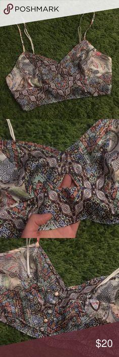 Victoria's Secret Bralette Silky bralette! Fabric is so comfy and it's a funky design Victoria's Secret Intimates & Sleepwear Bras