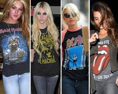 bandtee3 Camisetas de Banda de Rock Femininas. Você curte?