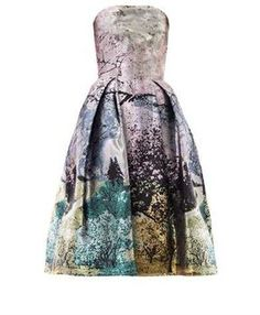 MARY KATRANTZOU Nevis Dijon tree-print strapless dress on shopstyle.co.uk