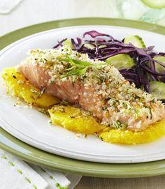 Tarragon-Citrus–Crusted Salmon