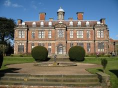 Sudbury Hall, Derbyshire, England. Built by George Vernon in 1660. The Hall was the main setting for the 1995 adaptation of Pride and Prejudice starring Colin Firth who played the dashing Mr Darcy