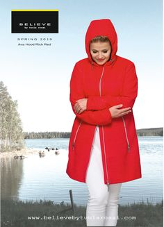 This beautiful hooded jacket has very attractive Baby Stripe quilted material and outstanding Rich Red colour! Hood is detachable with stylish luxurious 2-way zipper. AVA HOOD Jacket is flattering your body in all sizes!  The modern and fashionable jacket is perfect for anyone who loves a stylish streetwear piece with simple, modern overall look. Luxurious long double pockets with 2 way zipper gives slim look to your body. Thanks to perfect cut you can feel comfortable and look great! Spring Jackets, Winter Jackets, Striped Quilt, Quilt Material, Red Colour, Look Chic, Jacket Style, Looking For Women, Ava