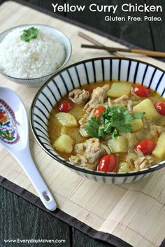 Yellow Curry Chicken #glutenfree #paleo #thaifood #curry