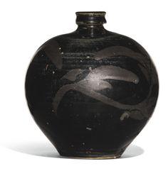 A 'HENAN' RUSSET-PAINTED BLACK-GLAZED JAR, JIN DYNASTY