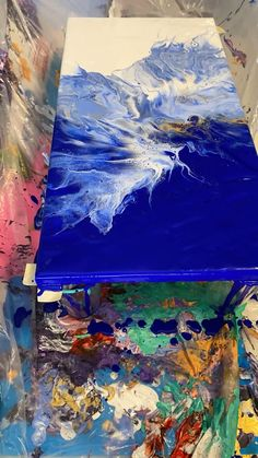 Canvas Painting Tutorials, Diy Canvas Art, Abstract Painting Techniques, Acrylic Pouring Art, Acrylic Art, Acrylic Paintings, Ebay Paintings, Oil Paintings, Pour Painting