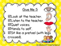Classroom Management Tips linky: includes many rules and procedures for the Kindergarten classroom