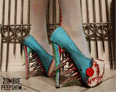 Freddy Krueger Elm Street Spike Pumps by kaylastojek on Etsy
