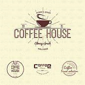 Café emblemas e etiquetas de logotipo para qualquer uso