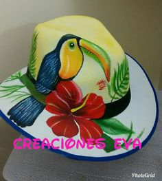 Painted Hats, Hand Painted, Cute Wolf Drawings, Mix Match Outfits, Easter Pictures, Crazy Hats, Diy Hat, Summer Accessories, Summer Hats