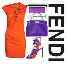 """Fendi."" by nurinur ❤ liked on Polyvore featuring Plein Sud, Casadei and Fendi"