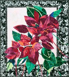 Quilt Inspiration: The art of Brenda Yirsa: exotic flowers in fabric