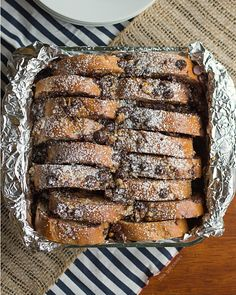 A breakfast that's perfect for Christmas - Overnight Chocolate Pecan Pie French Toast Casserole