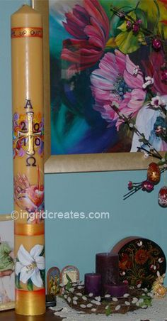 Designing a Paschal Candle- by Guest Blogger Ingrid Lee