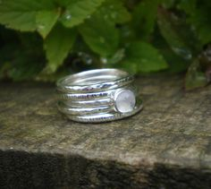 precious silver birch stacking rings by love silver   notonthehighstreet.com