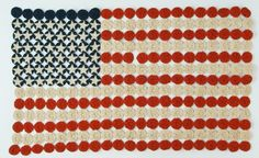 c.1900's Americana yoyo quilt....love...~Could make a modern day one (I love making yoyo's)