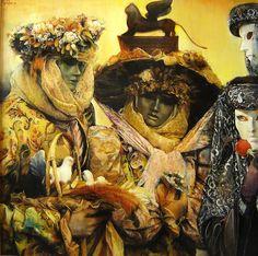 "Marco Ortolan; Oil, 2013, Painting ""I take the basket ? """