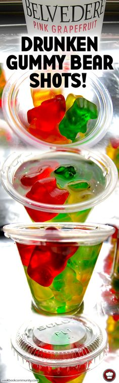 DRUNKEN GUMMY BEAR SHOT - Vodka and Gummy Bears are great friends! Learn to make this gummy candy shot for your next party.