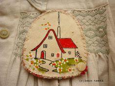 'Home' Brooch