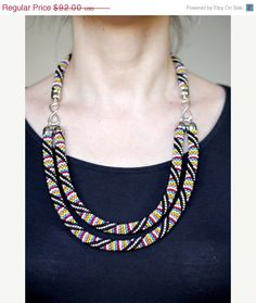 African Inspired Necklace by HeriniasJewelryChest