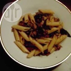 Penne with Spinach, Mushrooms and Garlic @ allrecipes.co.uk