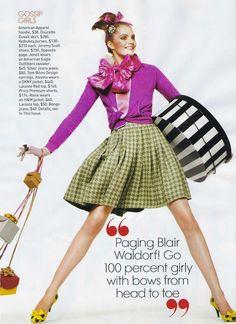 """Little Ladies"": Tweedy Gossip Girls by for Teen Vogue"