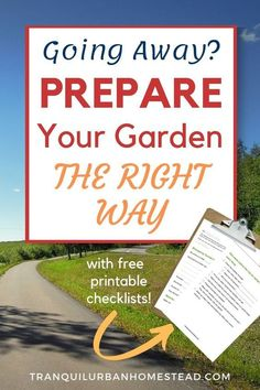 Are you going away on vacation soon? Are you worried that your garden won't survive? Learn simple tips and techniques to prepare your garden for vacation. #vacation #garden Gardening For Beginners, Gardening Tips, Vegetable Gardening, Garden Maintenance, Rainwater Harvesting, Going Away, Garden Pests, Plant Needs, Outdoor Plants