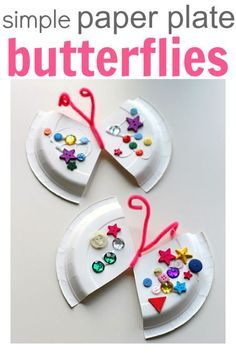 Easy Paper Plate Craft - Butterfly