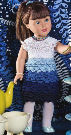 vestido muñeca punto cocodrilo