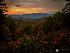 Sonnenuntergang in den Great Smoky Mountains