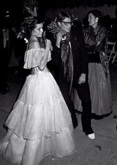 Bianca Jagger and Yves Saint Laurent