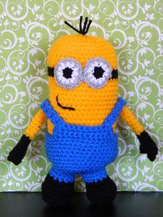 Cute crocheted Minion - www.facebook.com/LittleKrittersKnitsandKnots
