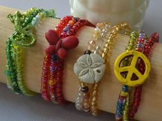 Colorful Stretch Four Bracelet Set With Butterfly by TannaGail