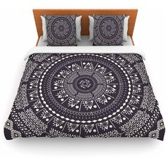 Featherweight Duvet Cover Famenxt Swadesi Boho Mandala Great Gift (8,325 INR) ❤ liked on Polyvore featuring home, bed & bath, bedding, duvet covers, grey, home & living, bohemian bedding, bohemian style bedding, lightweight duvet and grey bedding