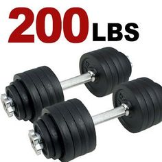 New 200lbs Total, one Pair of Adjustable Dumbbells Kits - 200 Lbs (100lbs x 2pc) by MTN Gearsmith, http://www.amazon.com/dp/B00860YIZ4/ref=cm_sw_r_pi_dp_lIhQrb1XGSZ7B