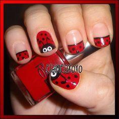 New Ideas nails art spring lady bug Fingernail Designs, Toe Nail Designs, Nail Polish Designs, Nail Art Coccinelle, Cute Nails, Pretty Nails, Ladybug Nails, Ladybug Art, Nail Art For Kids