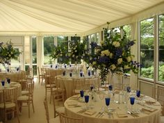 Birthday celebration marquee with solid window walls