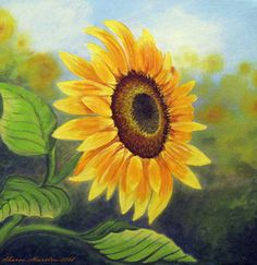 sunflowers cards | Sunflower Painting by Sharon Marcella Marston - Sunflower Fine Art ...
