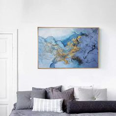 Large abstract painting original blue abstract oil painting | Etsy Blue Abstract Painting, Large Painting, Abstract Wall Art, Acrylic Paintings, Large Canvas Wall Art, Extra Large Wall Art, Canvas Art, Abstract Styles, Original Paintings