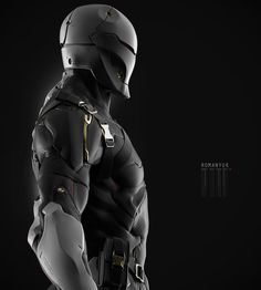 This is my version, and fan art works at the Gray Fox from Metal Gear I decided not to dwell on the high poly model and made the game model with textures on old technology shader with specular color and power map. For realtime rendering I used Robot Ninja, Armor Concept, Concept Art, Concept Ships, Zbrush, Cry Anime, Anime Art, Space Opera, Combat Suit