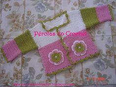 * Pérolas do Crochet: Casaquinho de croche para bebe super fácil!